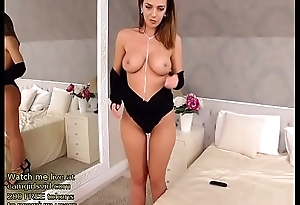 Stunning busty Milf gets naked - live at link