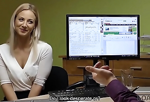 LOAN4K. It'_s not a casting but blonde undresses and fucks in office