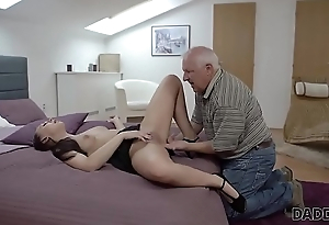 DADDY4K. Beauty Ornella Morgen enjoys nasty sex just about old daddy