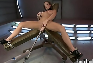Toy loving MILF gets both holes stretched