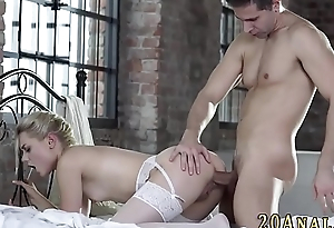 Stockings cutie gets anal