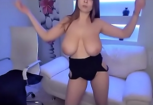 Sexy hot girl teasing huge tits Wow