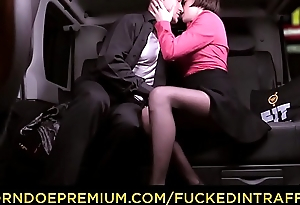 FUCKED Everywhere TRAFFIC - Cabbie George Uhl seduced by brunette Czech beauty to fuck in his car