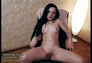Tiny webcam girl hot striptease - live at link