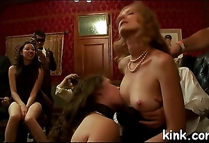 Hot pretty beauty drilled and dominated in real bondage!