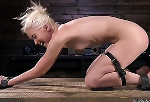 Flexible skinny blonde torturous in device