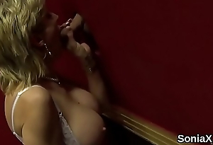 Unfaithful british milf son sonia showcases her large tits