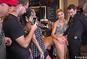Hot ass Serbian slave pissed relative to public
