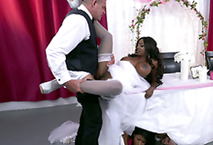 Mature ebony bride Diamond Jackson obtaining fucked on a table