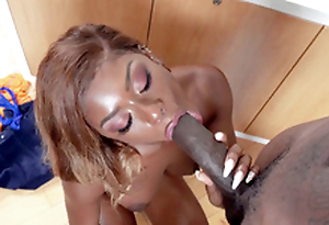 Lola Chanel is sucking the gargantuan black dick