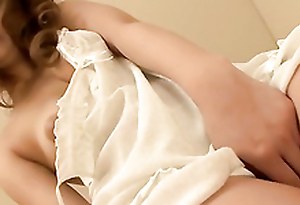 Busty hairy beauty Misaki Aiba loves cumming on cam