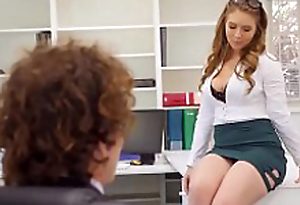 Creampies with downcast office secretary Lena Paul