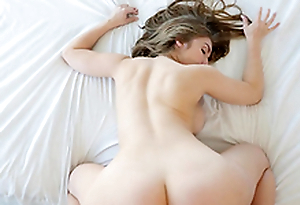 Lena Paul gets her hairy pussy banged while her tits bounce
