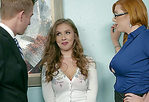 Office threesome is the best show one's age at work for Lauren Phillips and Lena Paul