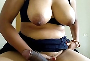 Mom Riding Son Big Black Cock In all directions Reverse Cowgirl Be after