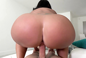 Big ass maid Kailani Kai reverse cowgirl riding her boss