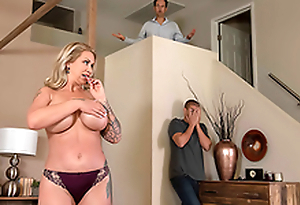 Mom Ryan Conner is sneaky and gets feature fucked right beside husband