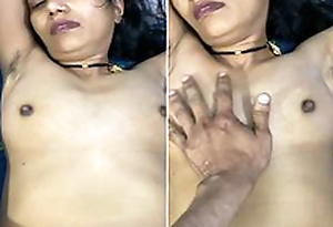 Today Exclusive- Super Hot Look Desi Wife Boob Pressing And Tight Pussy Hard Fucked By Hubby