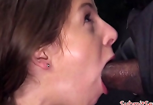 Busty sub interracially fucked in rough BDSM
