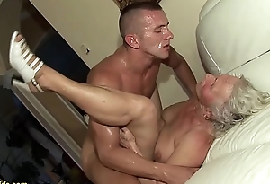 german granny in her first porn peel