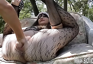 Double fisting coupled with dildo fucking her huge pussy
