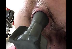Teen Using Huge Butt Plug and Hairy Gape