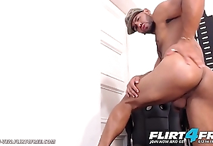 Nahun Ven - Flirt4Free - Latino Strips Out be advantageous to Military Gear to Unleash Fleshly Cock
